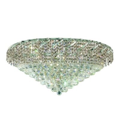 Belenus 21-Light Flush Mount Finish: Chrome, Crystal Grade: Royal Cut