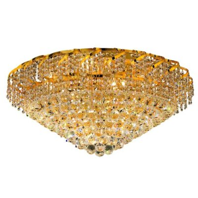 Belenus 21-Light Flush Mount Finish: Gold, Crystal Grade: Spectra Swarovski