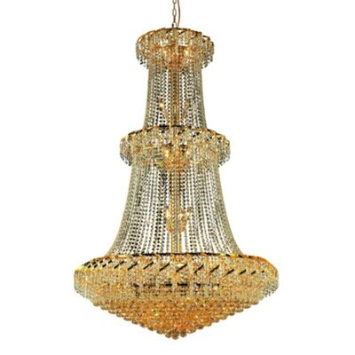 Belenus 32-Light Crystal Chandelier Finish: Gold, Crystal Trim: Spectra Swarovski