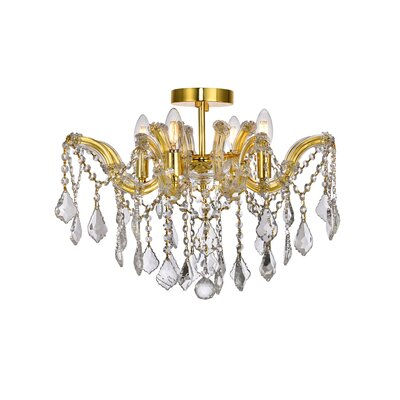 Regina 4-Light Semi Flush Mount Crystal Type: Swarovski Elements