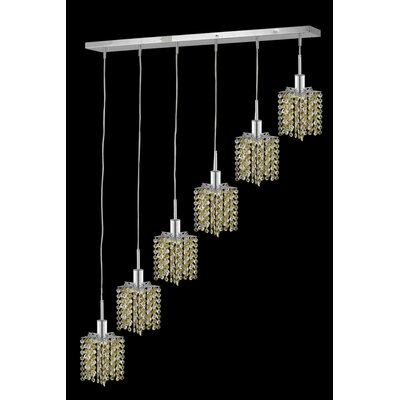 Spiral 8-Light Crystal Pendant Crystal Color / Crystal Trim: Golden Teak (Smoky) / Strass Swarovski