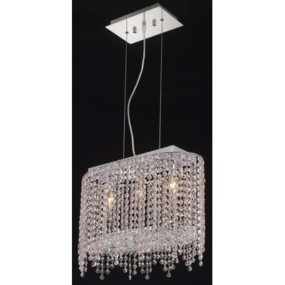 Moda 3 Light Pendant Crystal Color / Crystal Trim: Sapphire (Blue) / Strass Swarovski