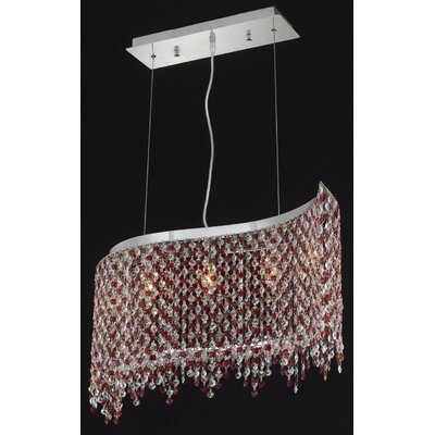 Moda 5-Light Kitchen Island Pendant Crystal Color / Crystal Trim: Crystal (Clear) / Royal Cut