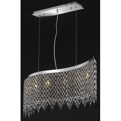 Moda 6-Light Kitchen Island Pendant Crystal Color / Crystal Trim: Crystal (Clear) / Elegant Cut