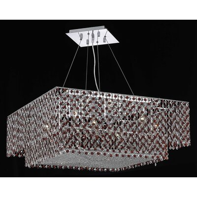 Primo 18-Light Flush Mount Crystal Color / Crystal Trim: Bordeaux (Red) / Royal Cut