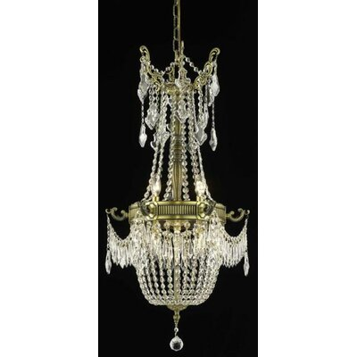 Ursula 6-Light Crystal Chandelier Finish: French Gold, Crystal Trim: Strass Swarovski