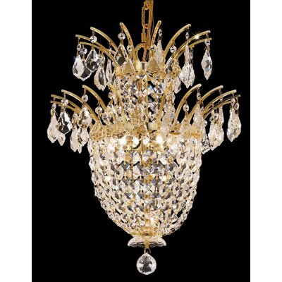 Primo 42-Light Crystal Chandelier Finish: Gold, Crystal Trim: Chrome / Elegant Cut