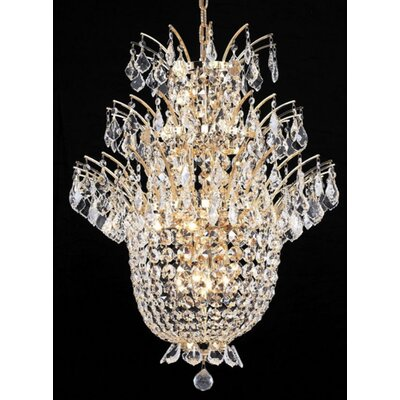 Spiral 41-Light Crystal Chandelier Finish: Gold, Crystal Trim: Chrome / Elegant Cut