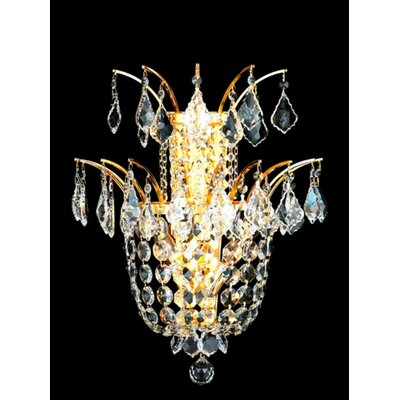 Galaxy 13-Light Crystal Chandelier Finish: Gold, Crystal Trim: Chrome / Elegant Cut