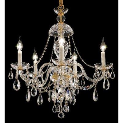 Elegant Lighting Alexandria 5 Light Chandelier - Finish / Crystal Color / Crystal Trim: Chrome / Crystal (Clear) / Elegant Cut at Sears.com