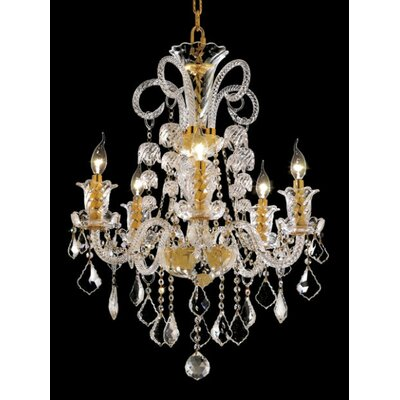 Spiral 26-Light Crystal Chandelier Finish / Crystal Color / Crystal Trim: Gold / Crystal (Clear) / Spectra Swarovski