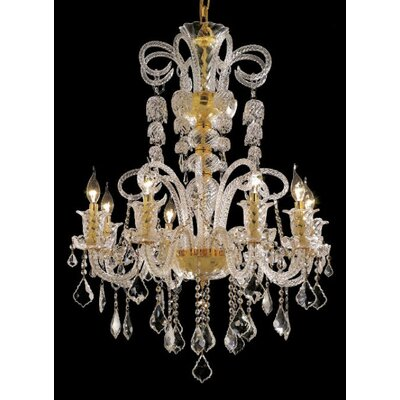 Primo 48-Light Crystal Chandelier Finish / Crystal Color / Crystal Trim: Gold / Crystal (Clear) / Strass Swarovski