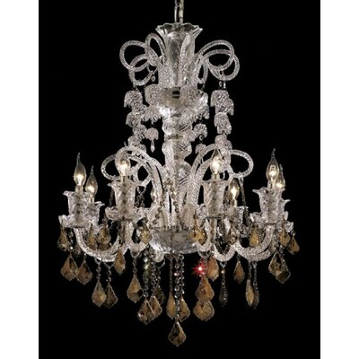 Primo 48-Light Crystal Chandelier Finish / Crystal Color / Crystal Trim: Chrome / Golden Teak (Smoky) / Strass Swarovski