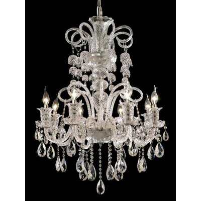Baxley 8-Light Crystal Chandelier Finish: Chrome, Crystal Trim: Elegant Cut