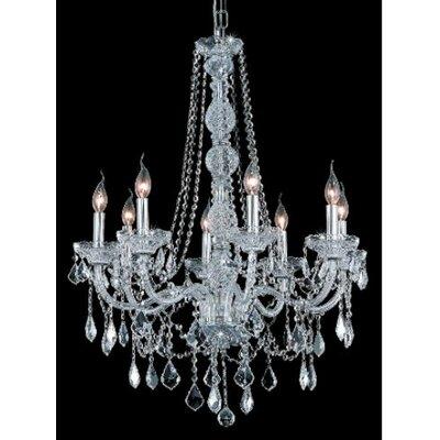 Elegant Lighting Verona 8 Light Chandelier - Finish / Crystal Color / Crystal Trim: Chrome / Crystal (Clear) / Strass Swarovski at Sears.com