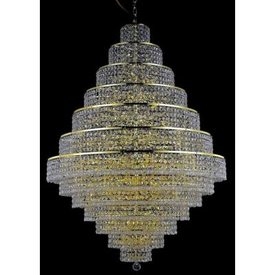 Bratton 38-Light Crystal Chandelier Crystal Trim: Elegant Cut