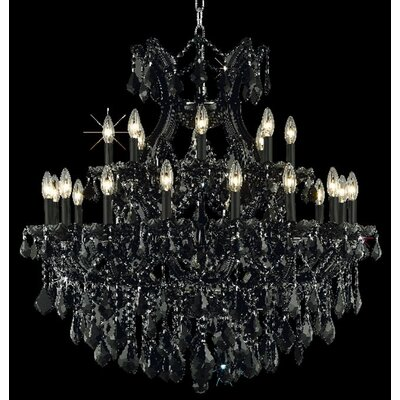 Regina 24-Light Crystal Chandelier Finish / Crystal Color / Crystal Trim: White / Crystal (Clear) / Elegant Cut
