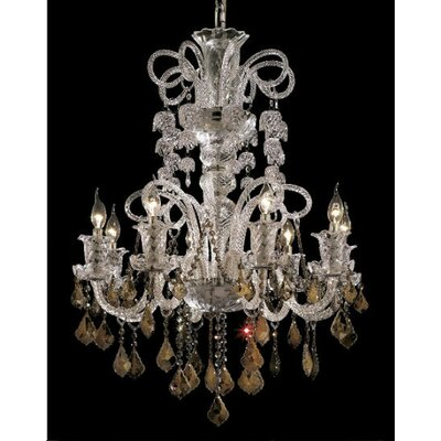 Primo 48-Light Crystal Chandelier Finish / Crystal Color / Crystal Trim: Gold / Crystal (Clear) / Royal Cut