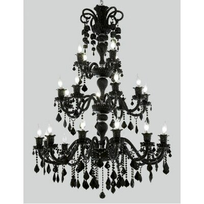 Primo 10-Light Flush Mount Finish / Crystal Color / Crystal Trim: Jet (Black) / Jet (Black) / Royal Cut