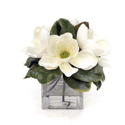 Magnolia Pick Floral Arrangement in Decorative Vase WG9650