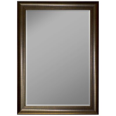 3 Step Framed Wall Mirror Finish: Scratched Copper, Size: 46