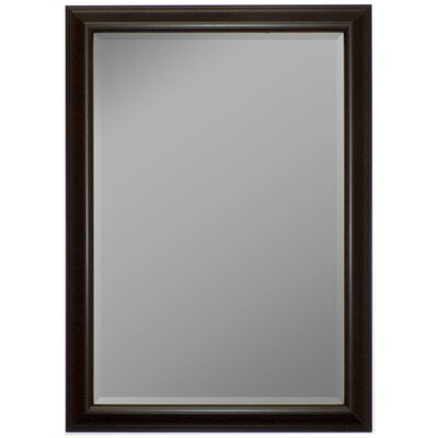 Glossy Silver Smoked Black Framed Wall Mirror Size: 44