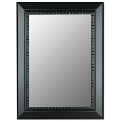 "Oiled black Mirror Framed Wall Mirror Size: 36"" H x 18"" W"