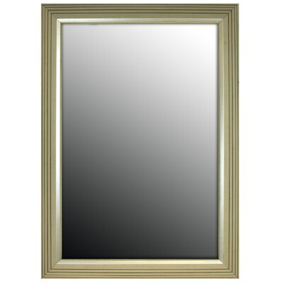 Stepped Silver Petite Framed Wall Mirror Size: 36