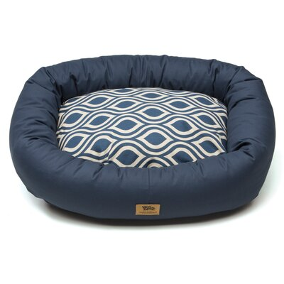 Pet Bumper Bed� III Color: Cobalt / Cobalt Groove, Size: Extra Large (42 L x 34 W)