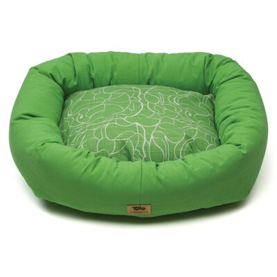Pet Bumper Bed I Color: Emerald, Size: Double Extra Large (48 L x 39 W)