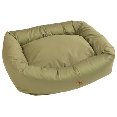 Pet Bumper Bed with Organic Cotton Color: Basil, Size: Double Extra Large - 48 L x 39 W