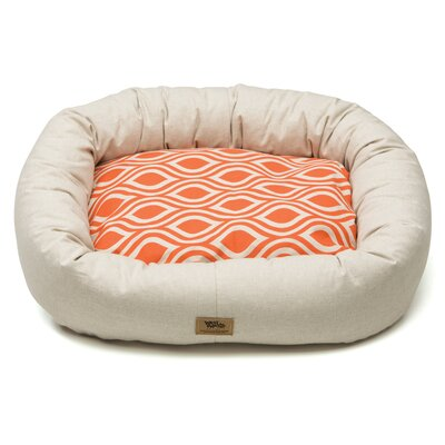 Pet Bumper Bed III Color: Linen / Sunset Groove, Size: Extra Large (42 L x 34 W)