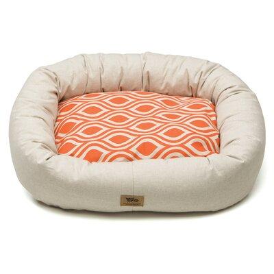 Pet Bumper Bed III Color: Linen / Sunset Groove, Size: Large (36 L x 28 W)