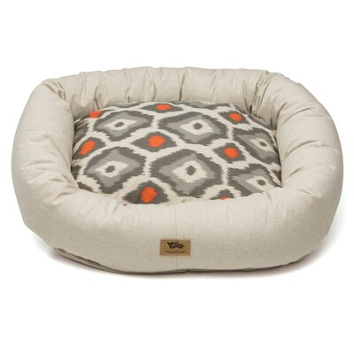 Pet Bumper Bed II Size: Small (23 L x 20 W), Color: Linen / Sunset