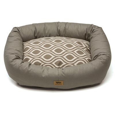 Pet Bumper Bed III Color: Walnut / Walnut Groove, Size: Double Extra Large (48 L x 39 W)