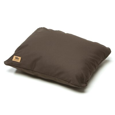 Pet Bed Pillow Color: Coffee, Size: Large - 32 L x 24 W