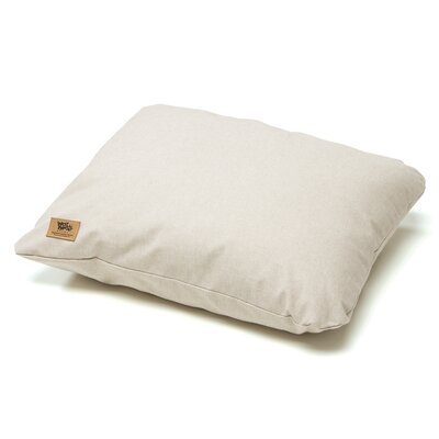 Pet Bed Pillow Size: Medium - 26 L x 22 W, Color: Linen