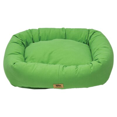 Pet Bumper Bed Size: Small - 23 L x 20 W, Color: Emerald