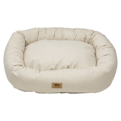 Pet Bumper Bed Color: Linen, Size: Double Extra Large - 48 L x 39 W