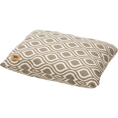 Geometric Pet Bed Pillow Size: Medium (26 L x 22 W), Color: Walnut Groove
