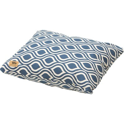 Geometric Pet Bed Pillow Size: Medium (26 L x 22 W), Color: Cobalt Groove