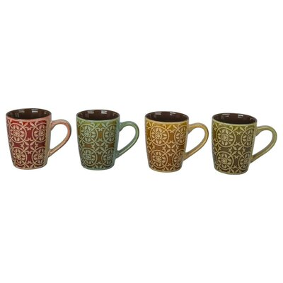 4 Piece Barcelona Mug Set (Set of 4) 403188+B09