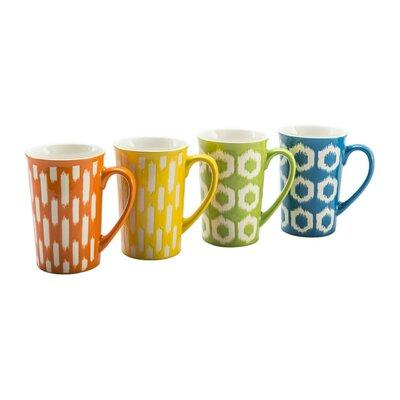 BIA Cordon Bleu 4 Piece 16 oz. Ikat Mug Set (Set of 4) 403206+A15