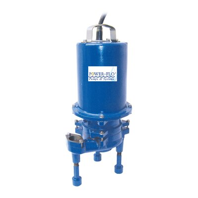 2 HP Grinder High Volume Submersible Pump with Double Seal 9 Amps