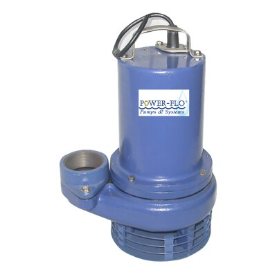 1/2 HP Sewage Submersible Pump with High Temperature and 11.5 Amps - Manual Operation