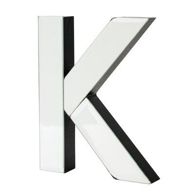 K Glass Letter Block