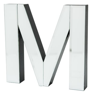 "M"" Glass Letter Block 17765"