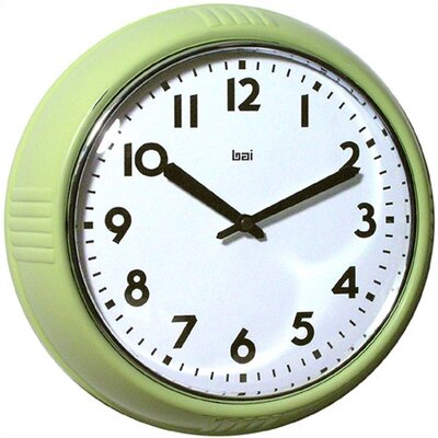 "8.3"" Too Cool for School Retro Modern Wall Clock Color: Chartreuse"