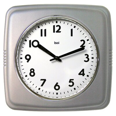Square Retro Wall Clock Finish: Satin Silver