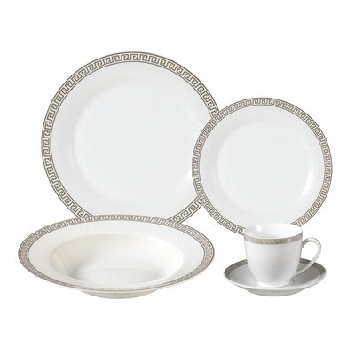 Natalia Porcelain 24 Piece Dinnerware Set, Service for 4 LH118
